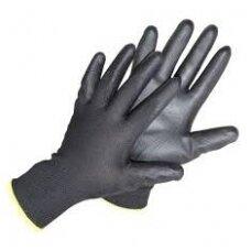 Pirštinės impregnuotos poliuretanu juodos