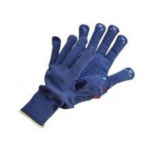 Pirštinės nailoninės su taškais  PVC 35101010