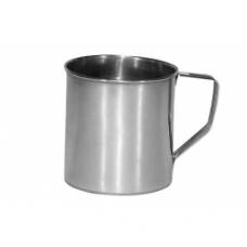 Puodelis nerūdijančio plieno 0.55L. 9 cm.