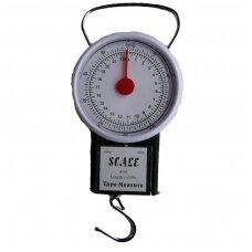 Svertuvas buitinis iki 22kg. su liniuote