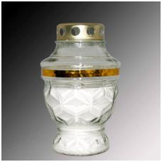 Žvakė kap.(8) Diament 955 įl. 72val./20cm balta