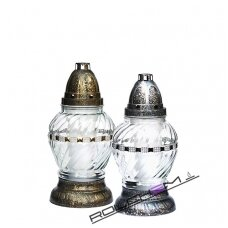 Žvakė kap.(8) Z-25 Srebrna  s/į 22cm 30val. Tdr